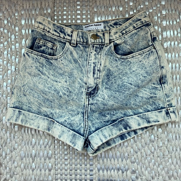 American Apparel High Wasted Denim Shorts